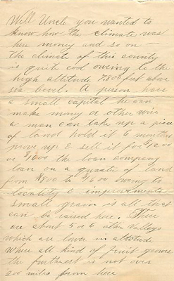 Letter from Fred J. Michaels to E.E. Nicholas, Page 3