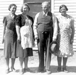 William Sheldon Thompson and his three daughters.