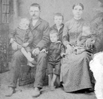 William Sheldon Thompson and Nancy Ann Cox and Children.
