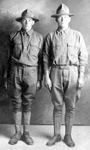 Fred and Bill Thompson in the Army.